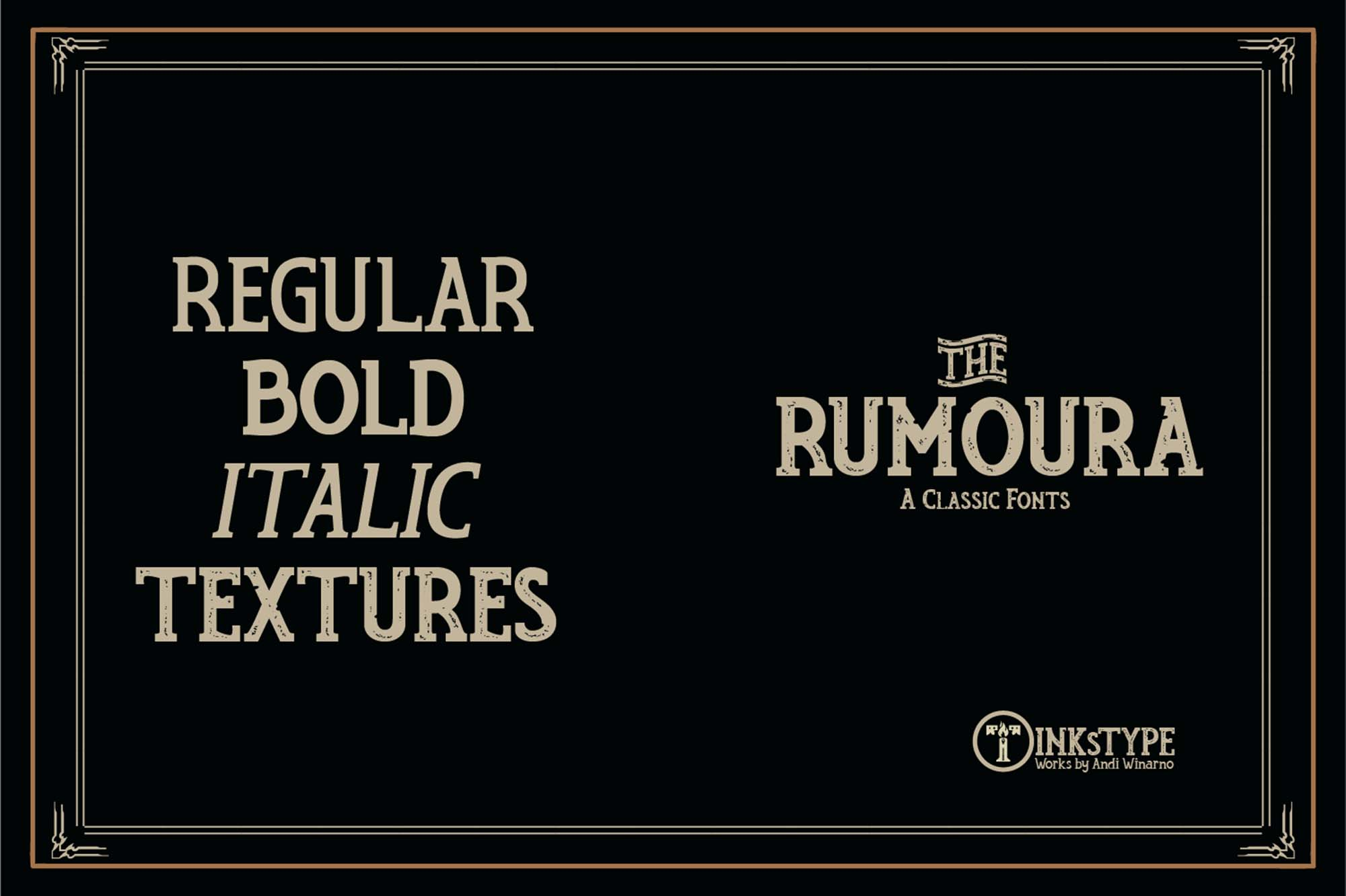 Rumoura Retro Font