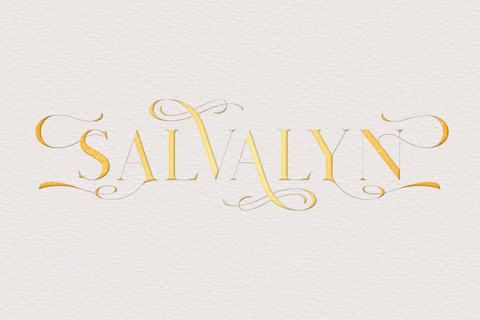 Salvalyn Serif Font