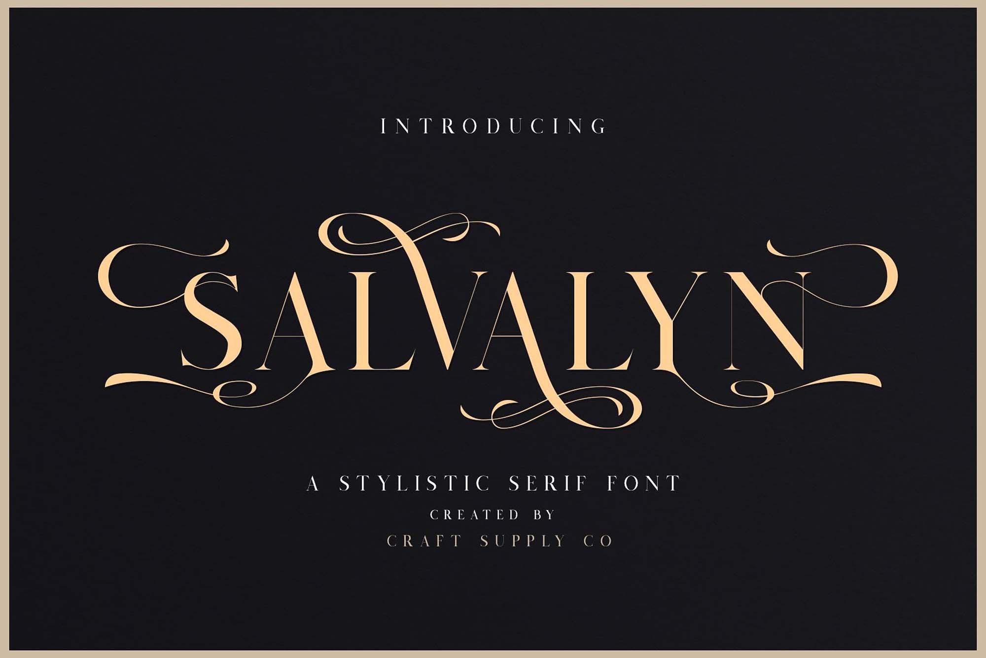 Salvalyn Serif Font Free & Premium