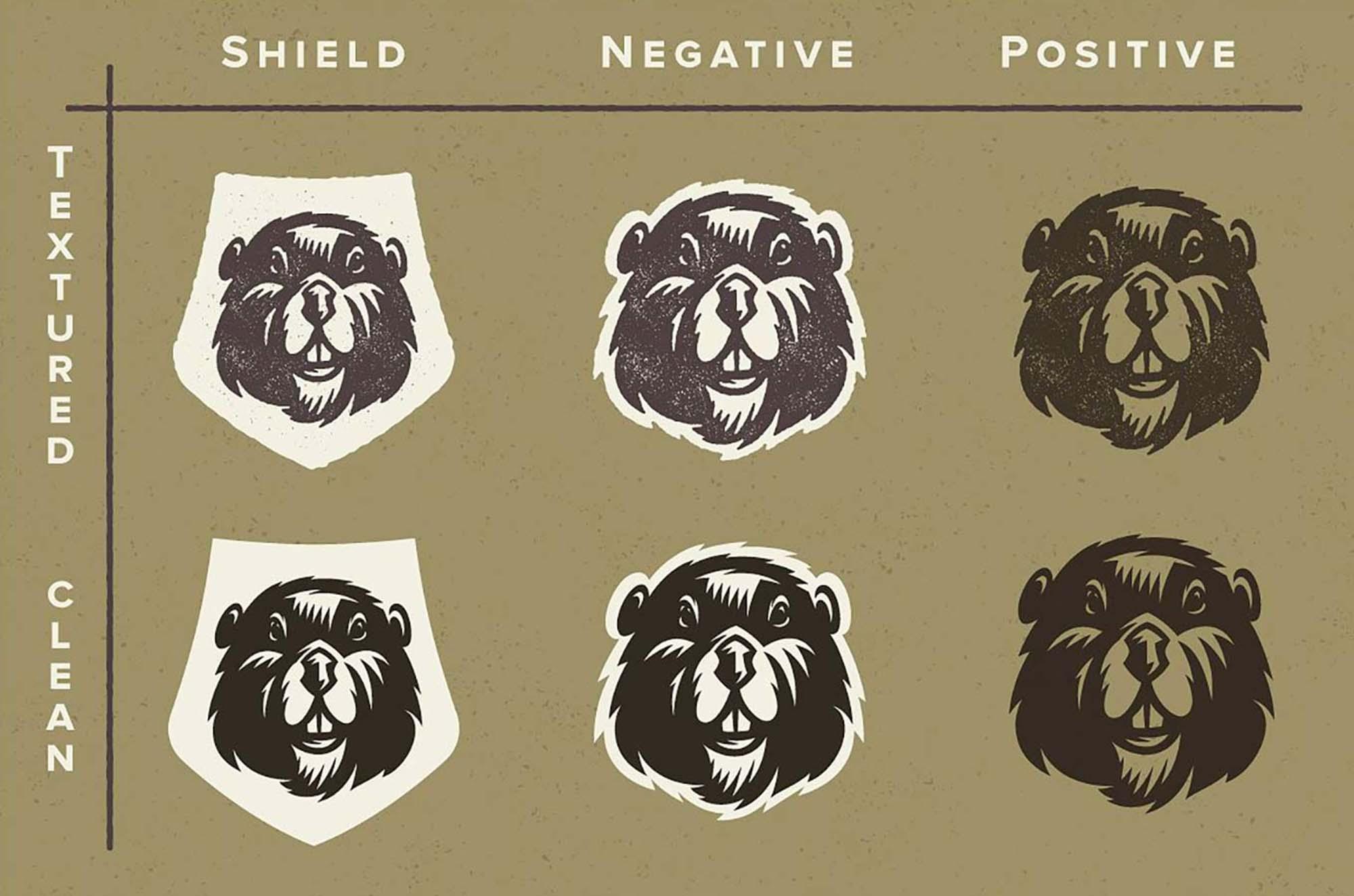 Vector Animal Badges