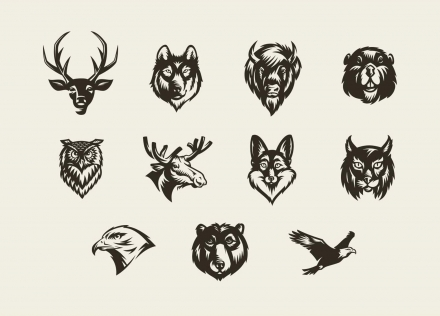 Vector Animal Badges