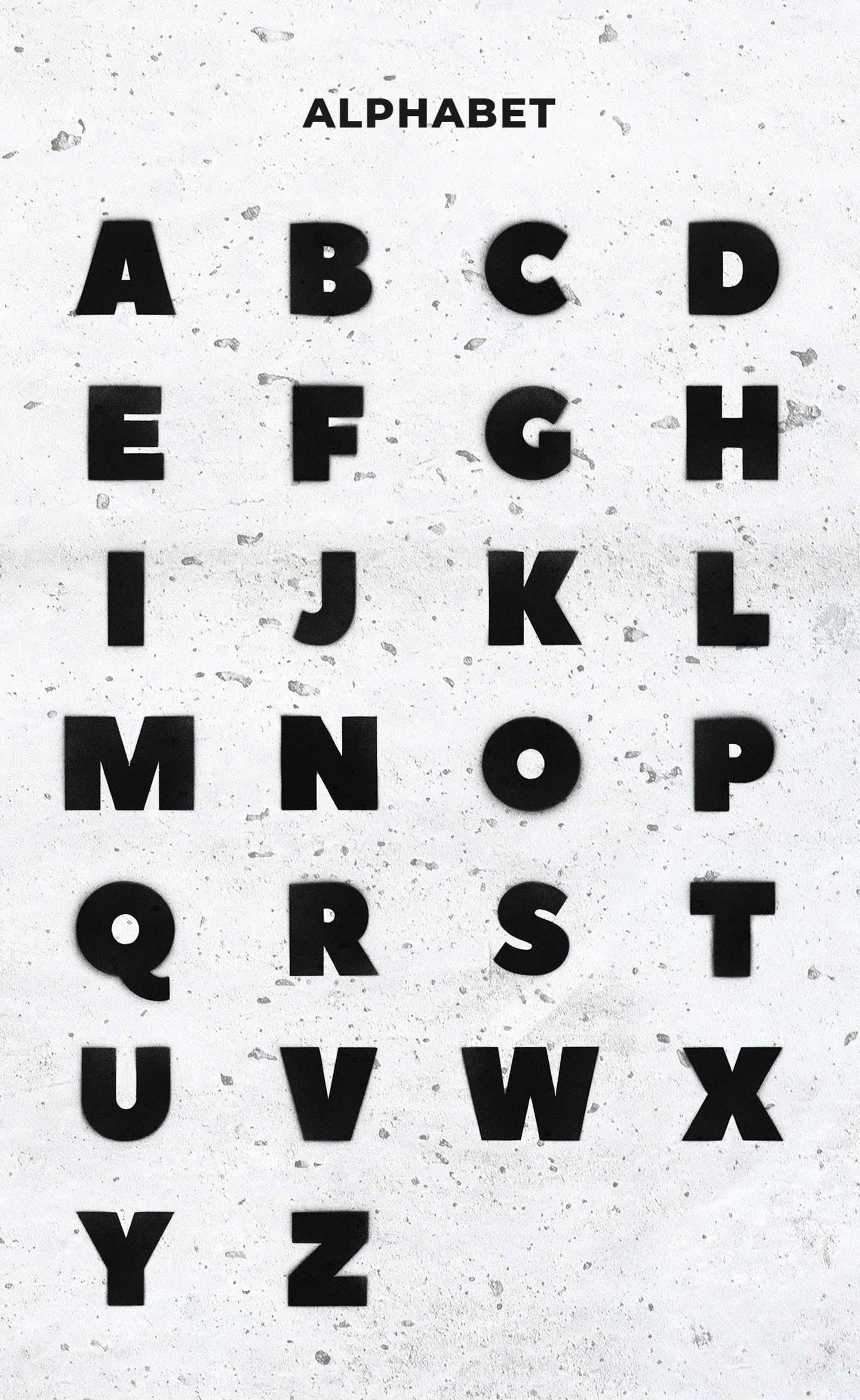 Spray Art Graphics Letters
