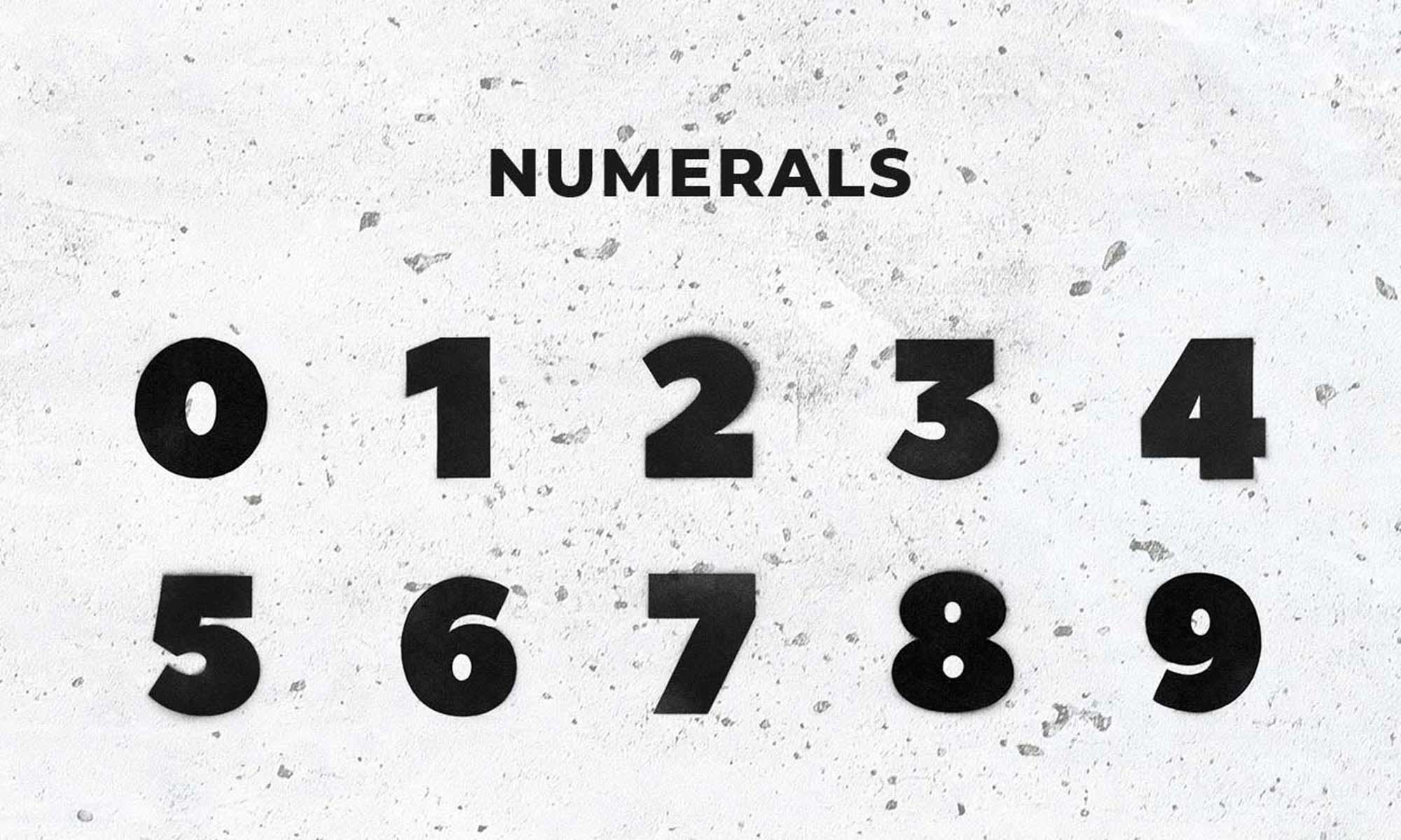 Spray Art Graphics Numerals