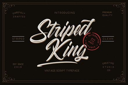 Striped King Font