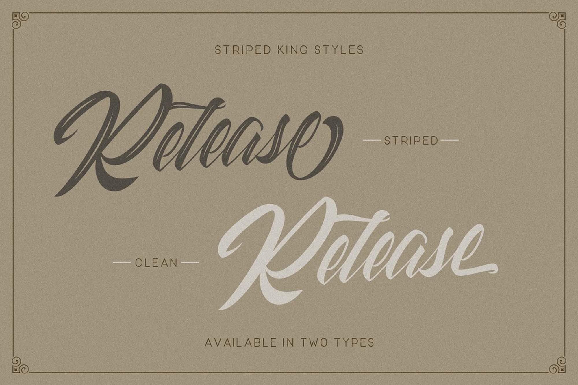 Striped King Font