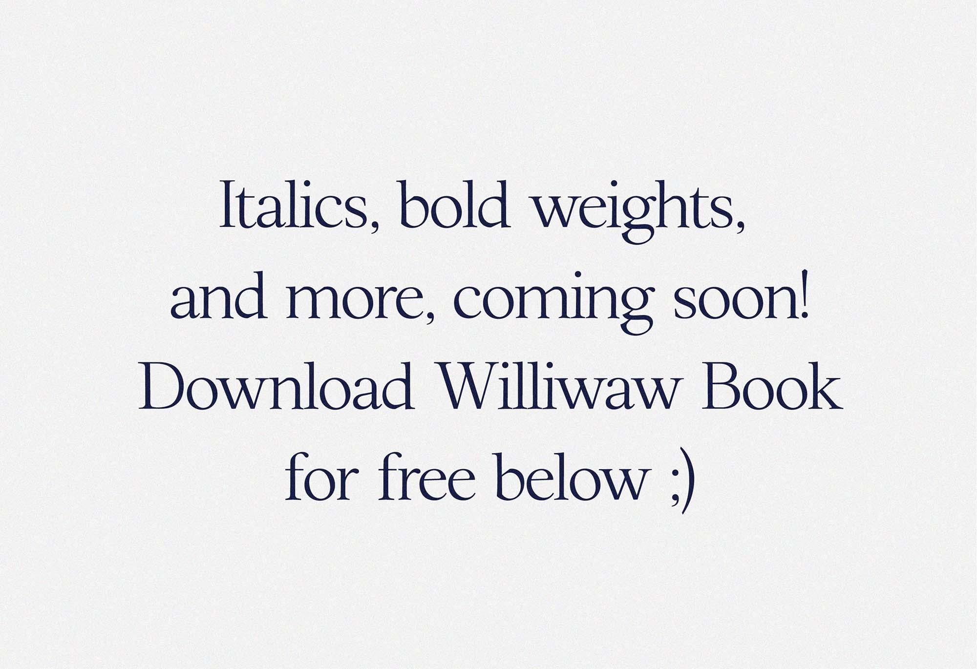Williwaw Serif Typeface