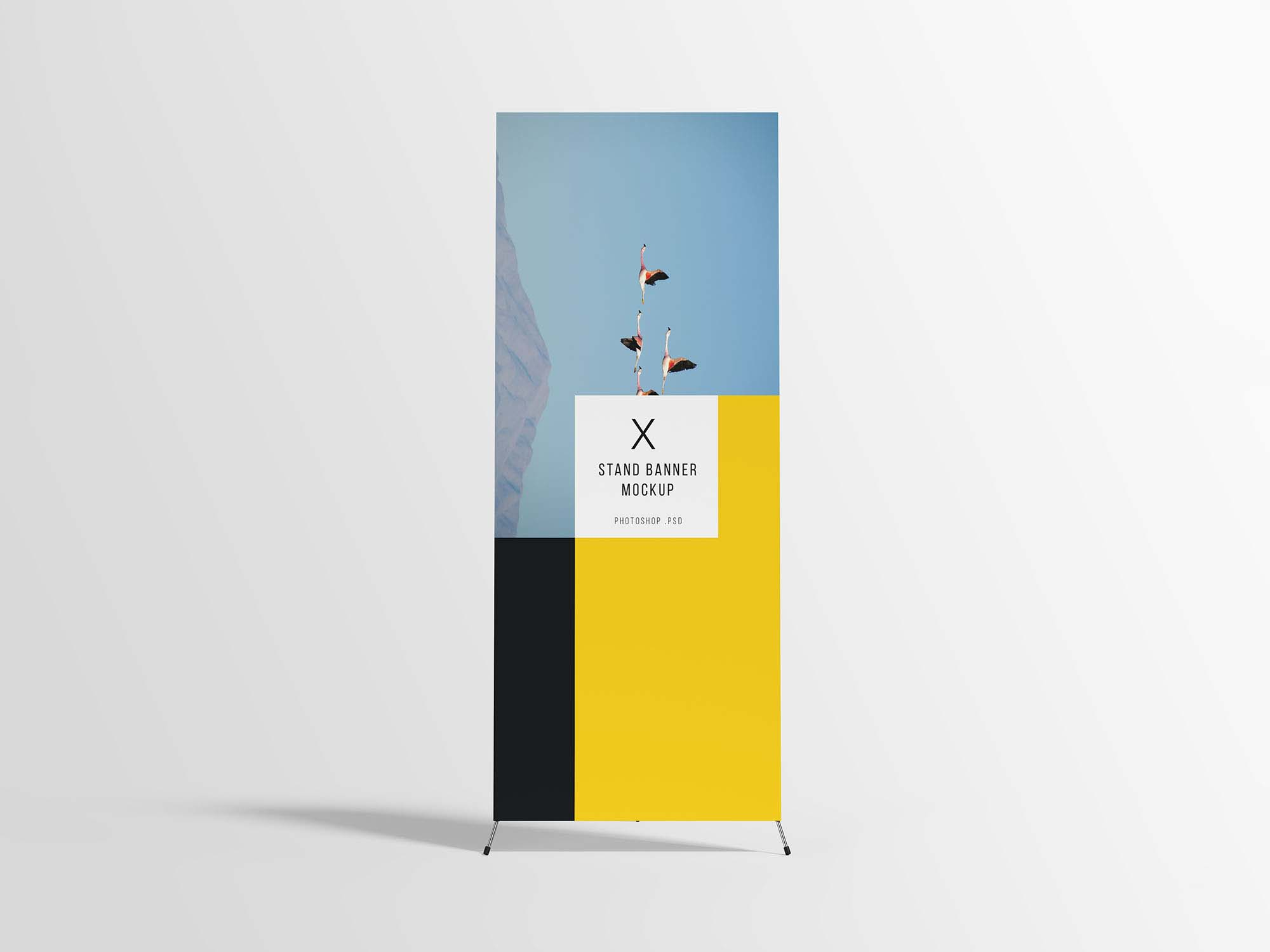 Exhibition Stand Freebies : Free front stand banner mockup psd