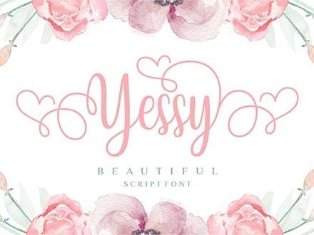 Yessy Script Font