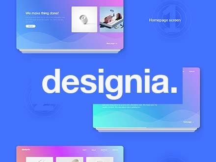 Designia Landing Page