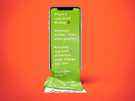 iPhone Long Scroll Mockup 4
