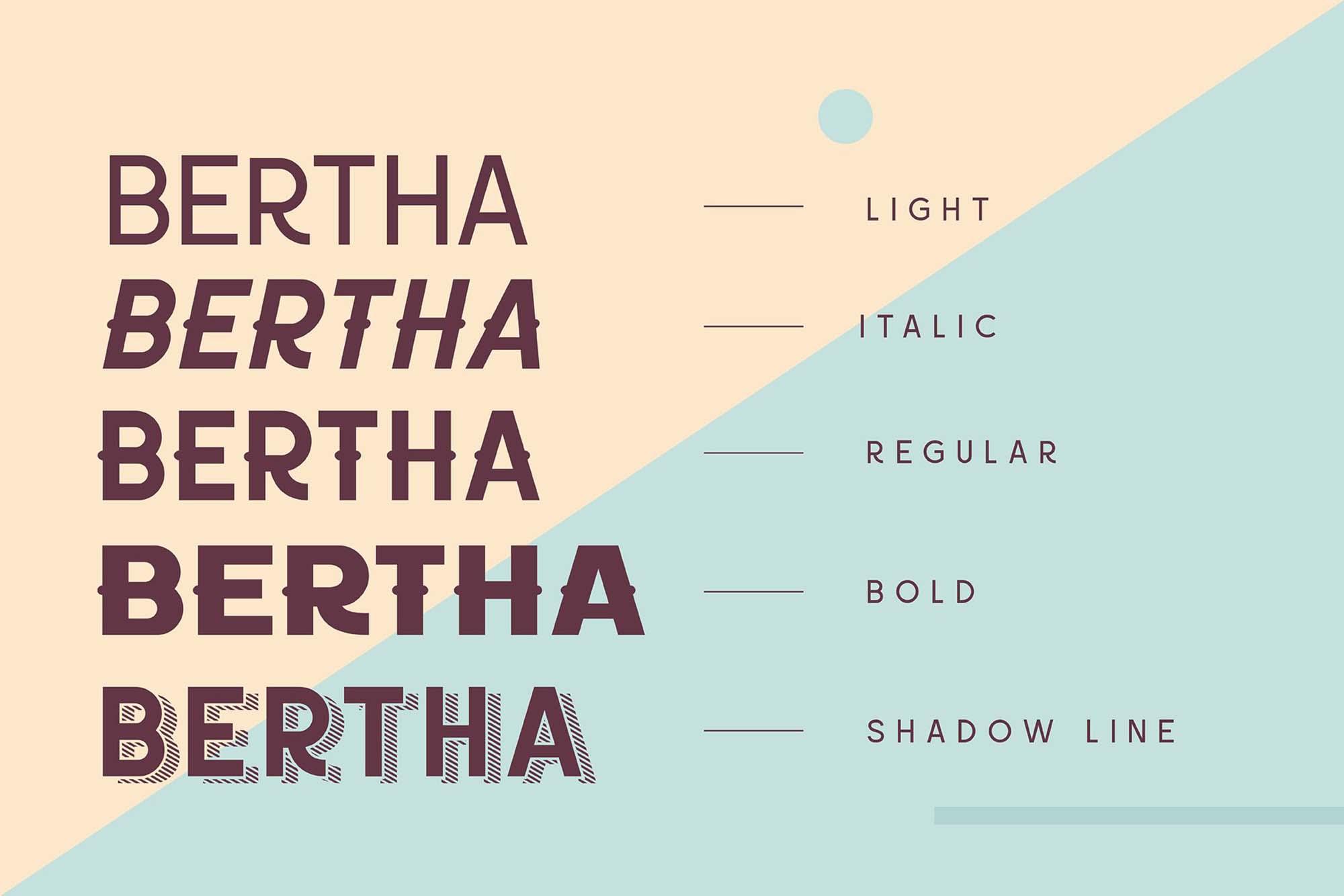 Bertha Font Weights