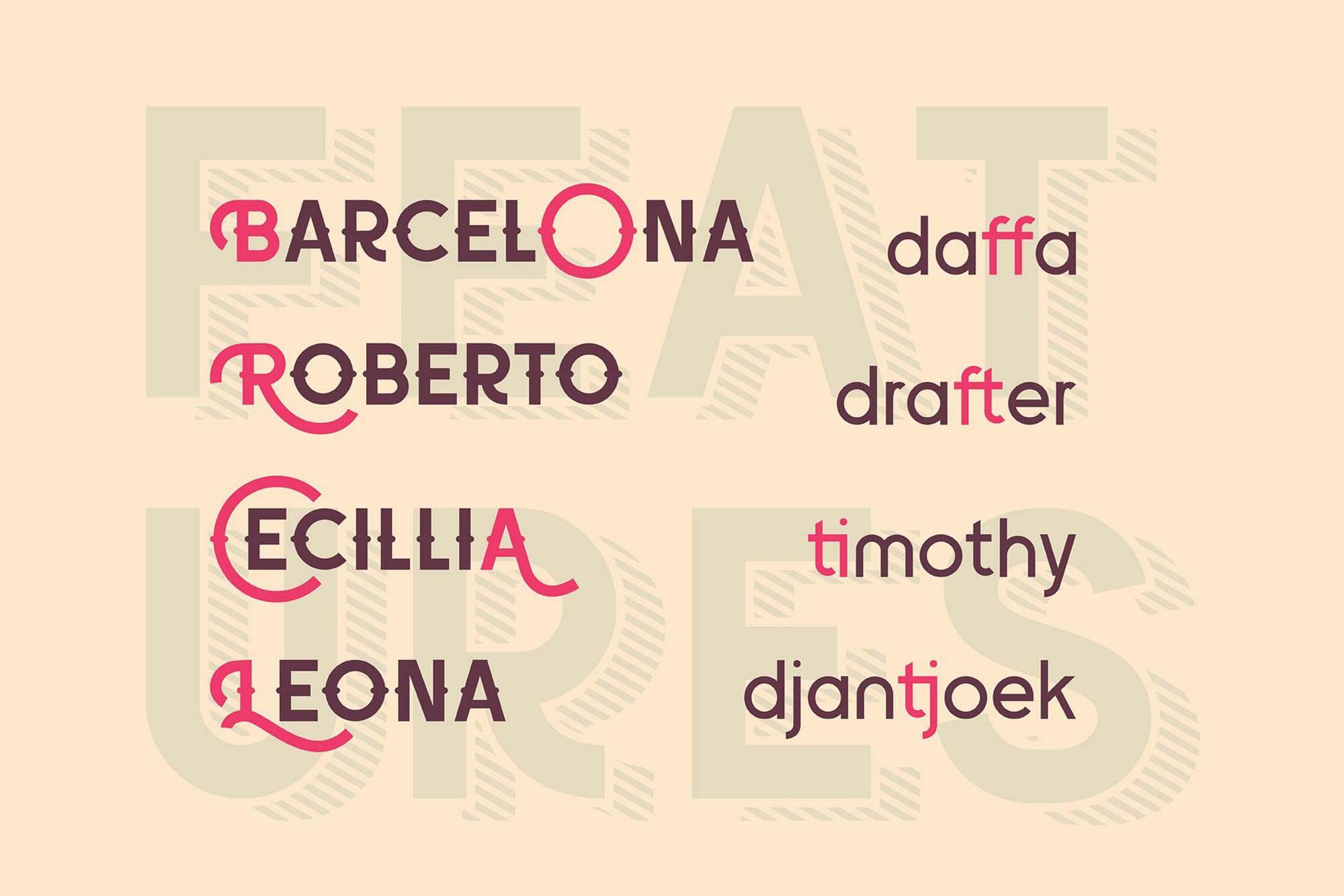 Bertha Font Styles