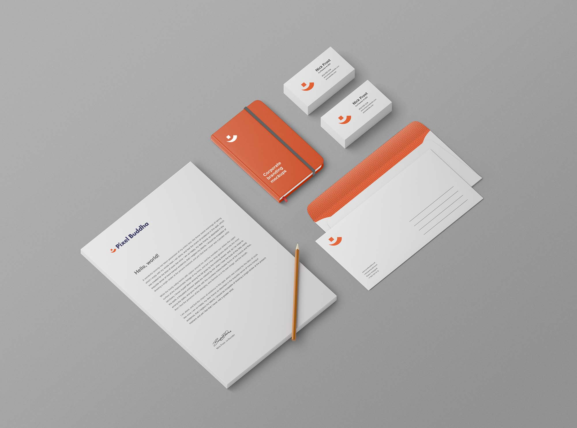 Perspective Stationery Mockup