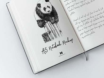 A5 Notebook Mockup