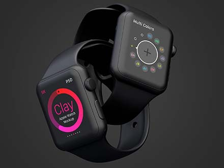 Clay Apple Watch Mockup