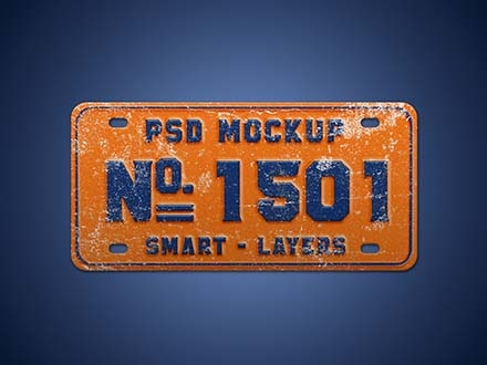 Car Number Plate Mockup