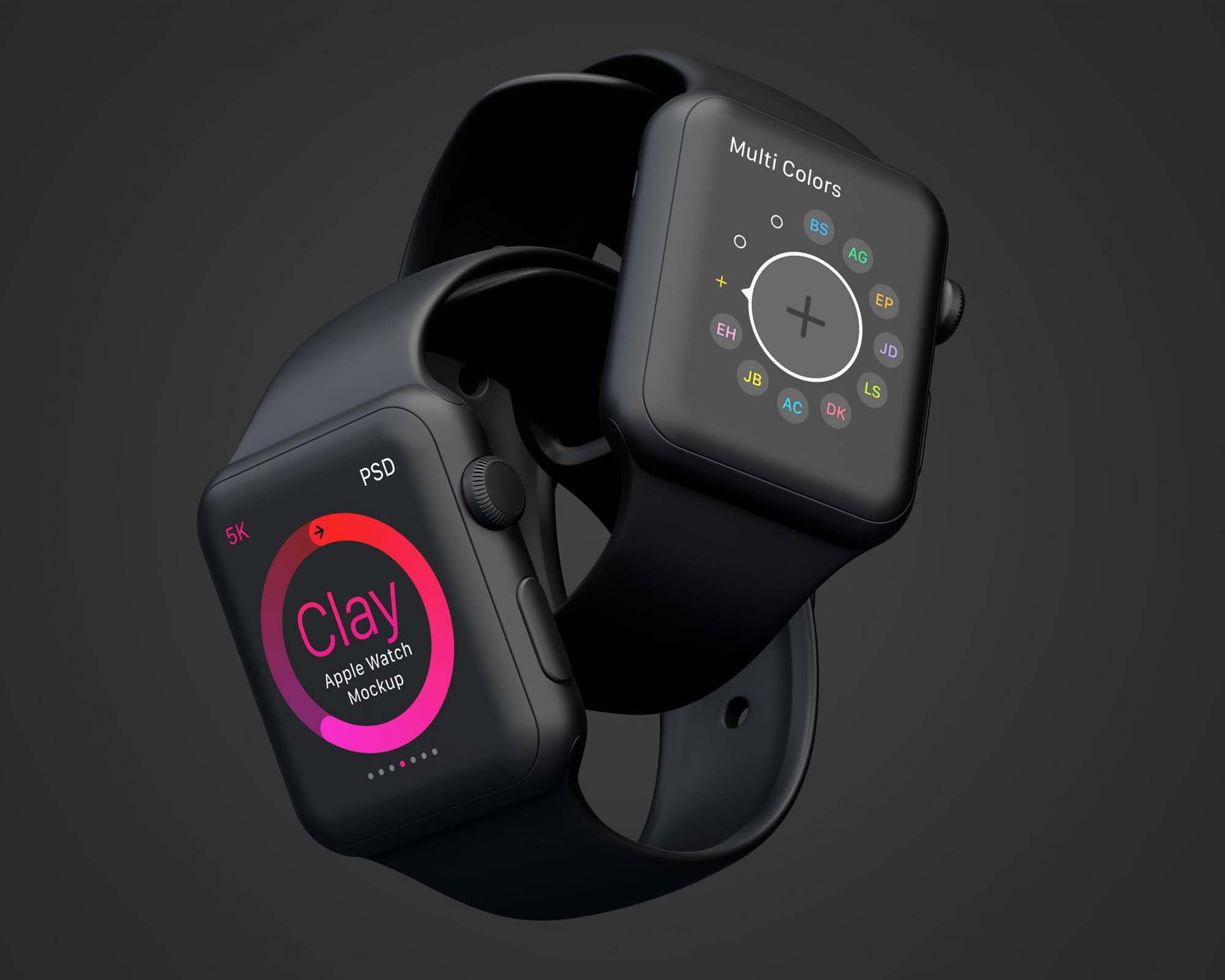 Clay Apple Watch Mockup