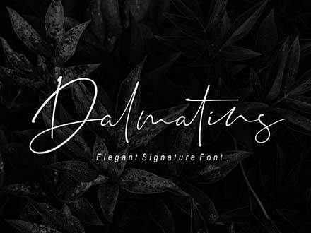 Dalmatins Signature Font