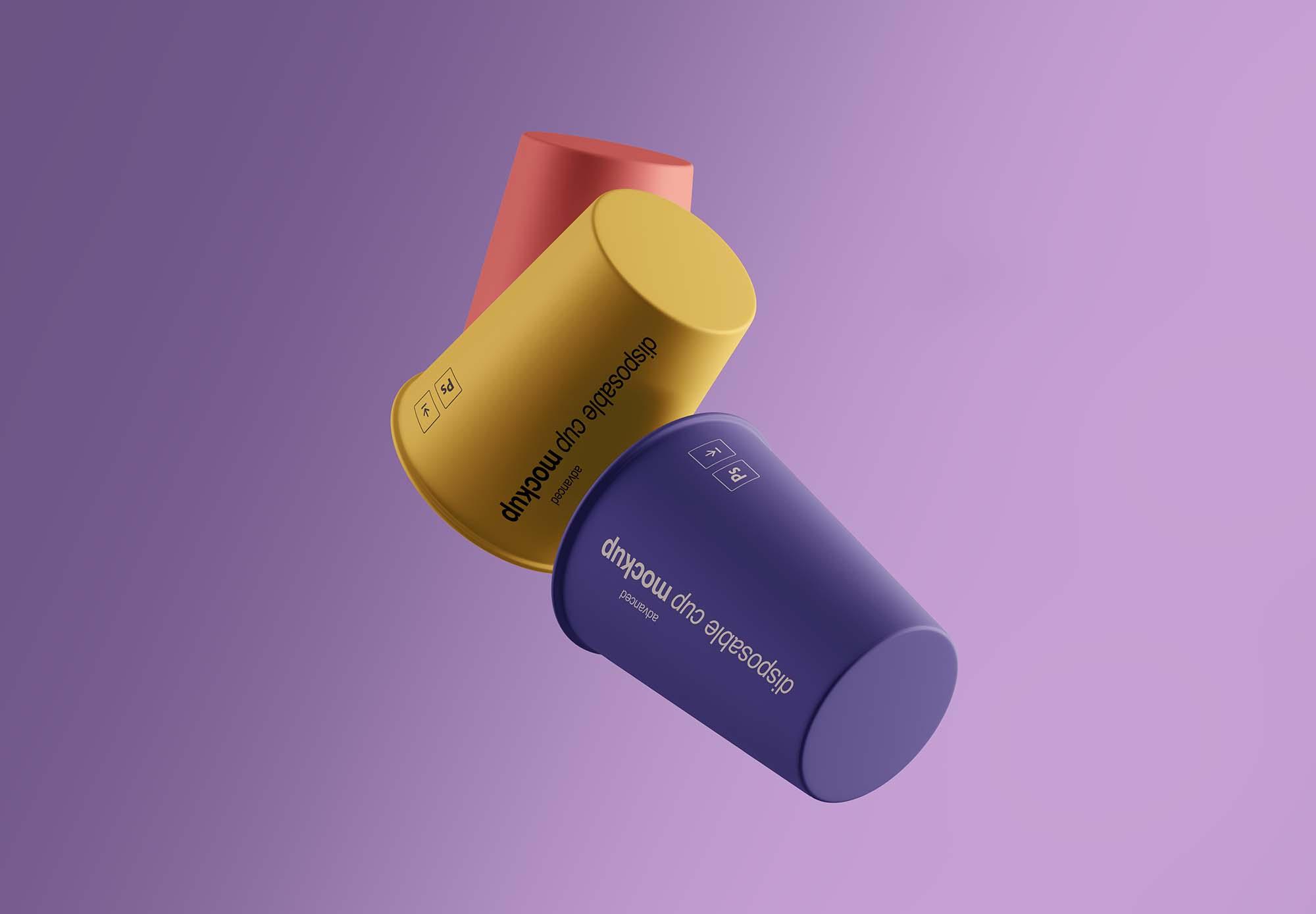 Gravity Cups Mockup