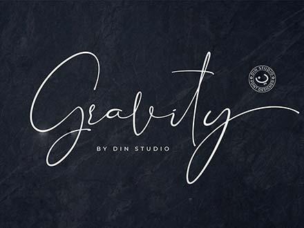 Gravity Signature Font