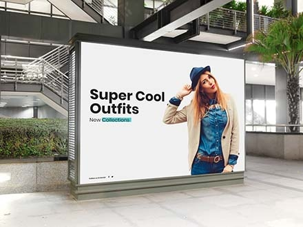 Indoor Billboard Digital Ad Mockup