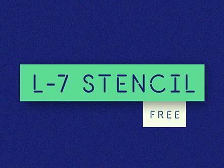 L7 Stencil Font