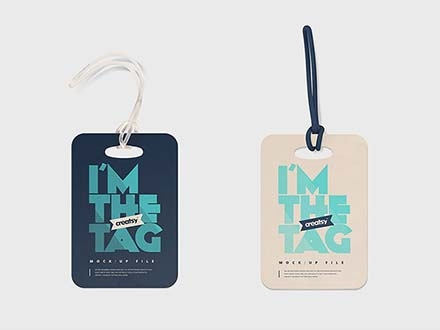 Luggage Diaper Tag Mockups