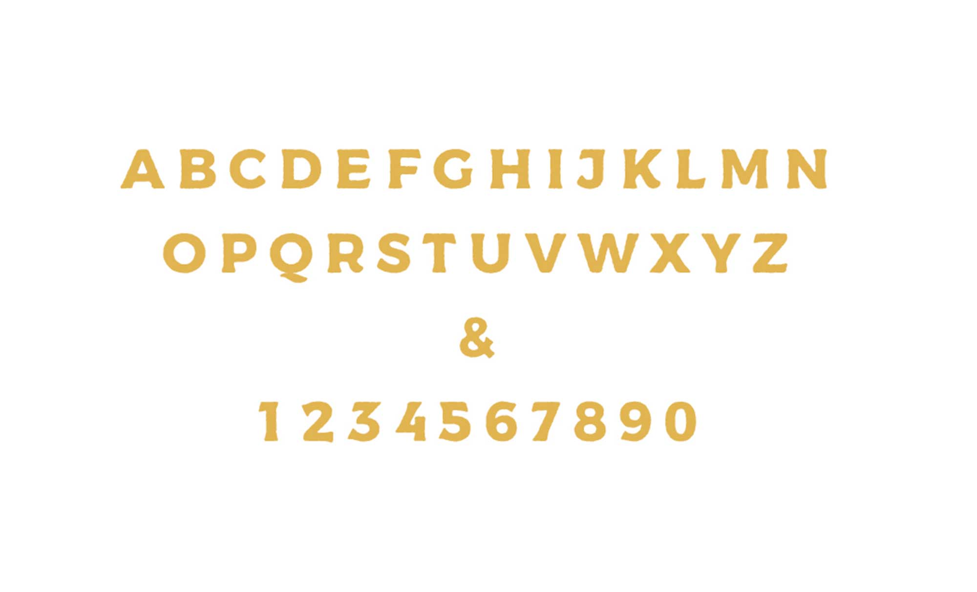Messenger Font Letters