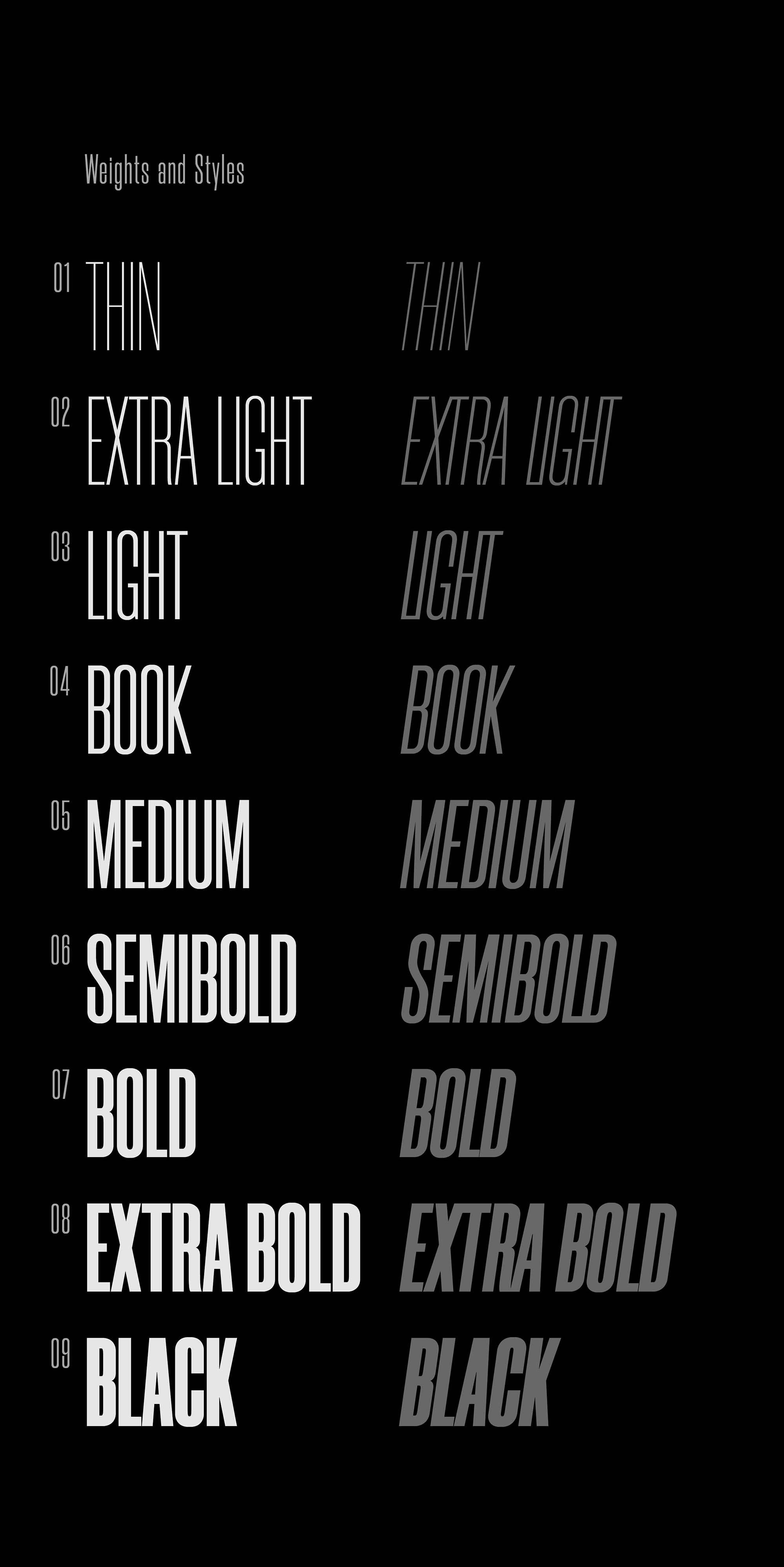 Morganite Font Weights