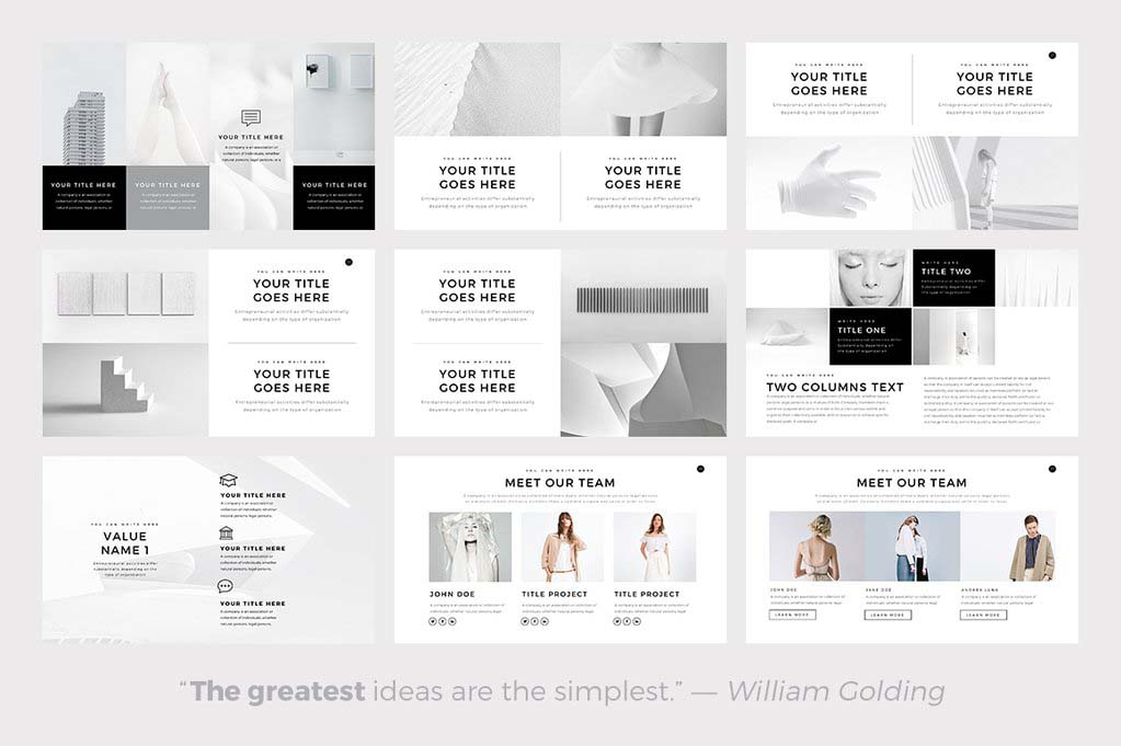 Neue PowerPoint Template
