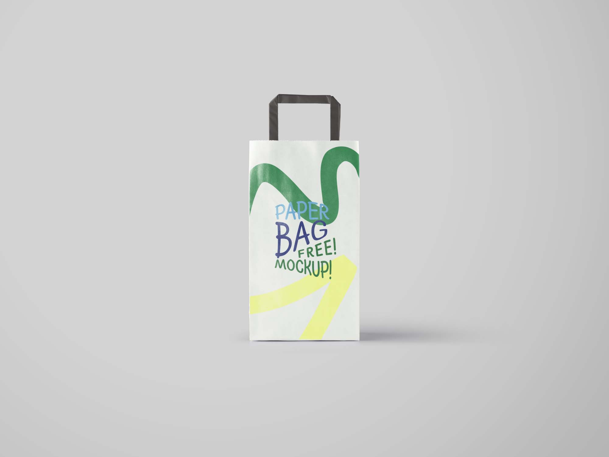 Vertical Paper Bag Mockup