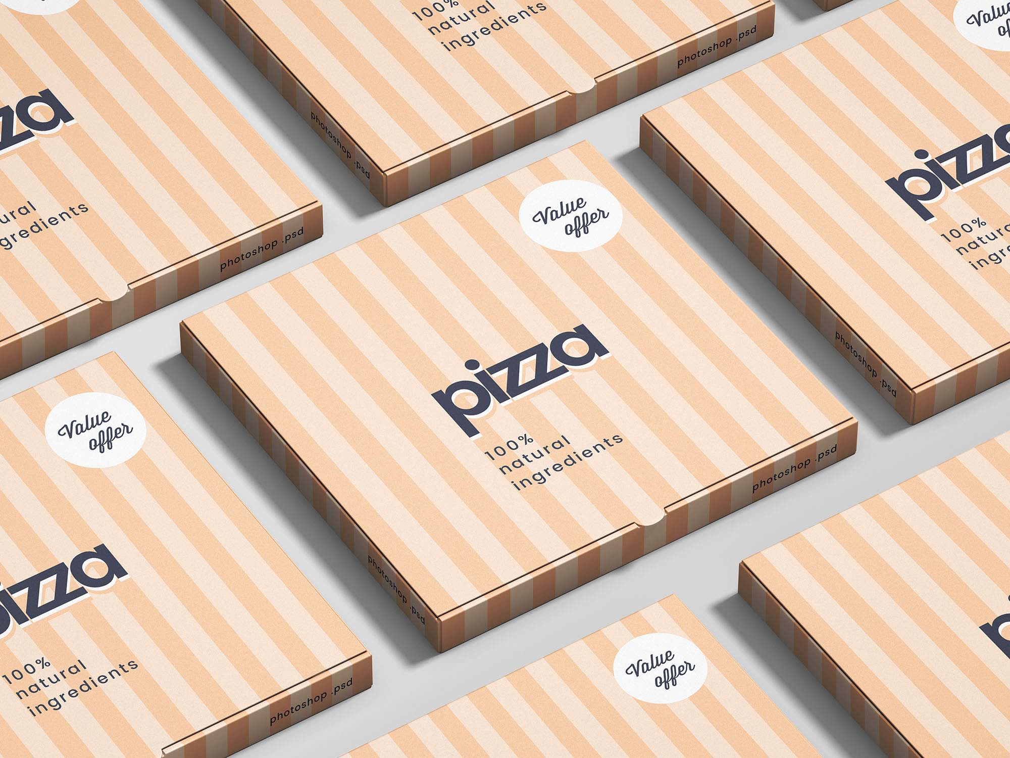 Pizza Package Box Mockup