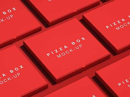Pizza Package Box Mockup 2