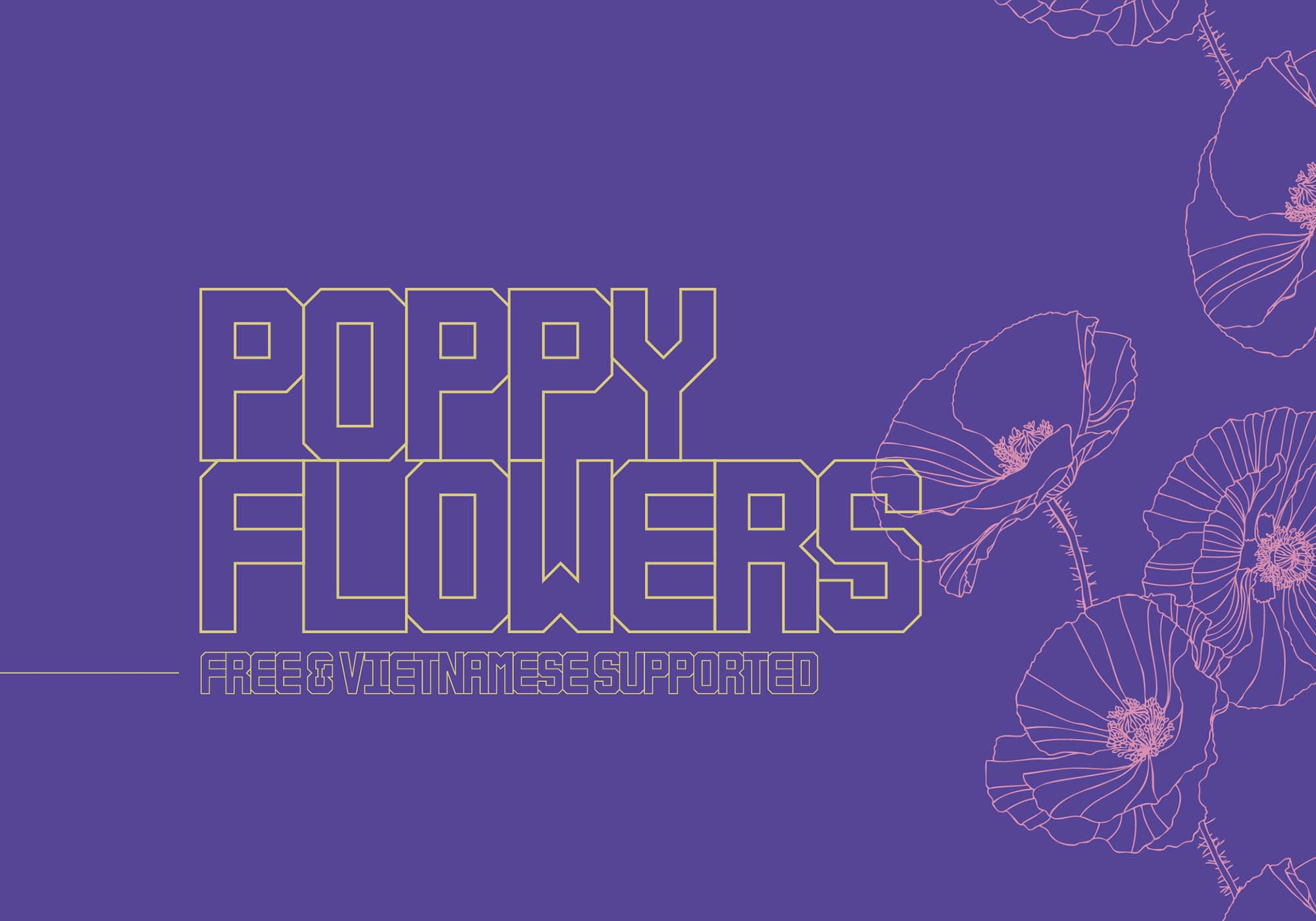 Poppy Flowers Typeface