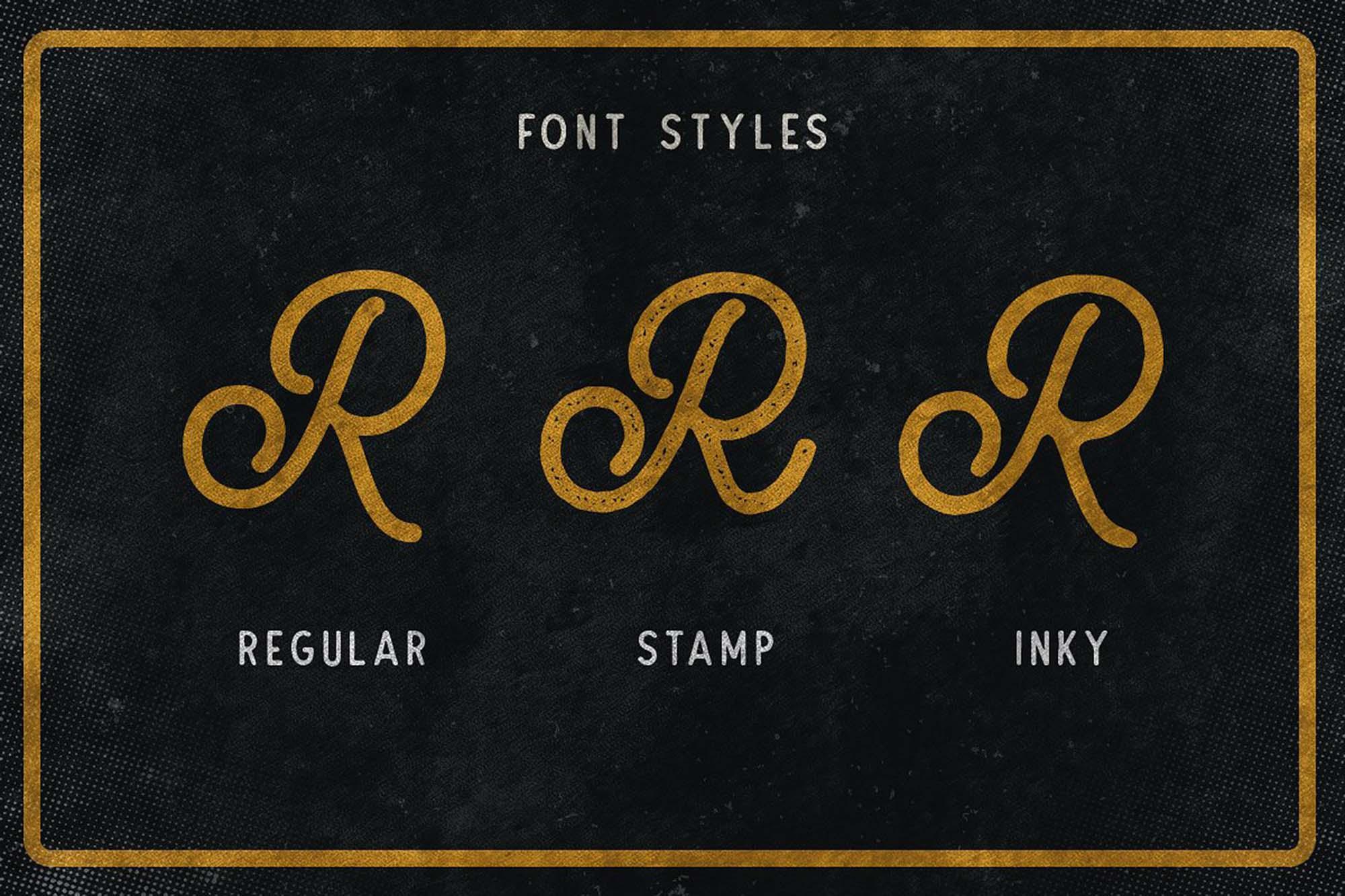 Routen Lightning Font