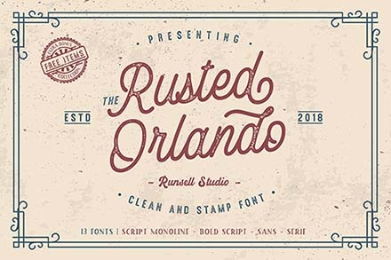 Rusted Orlando Font