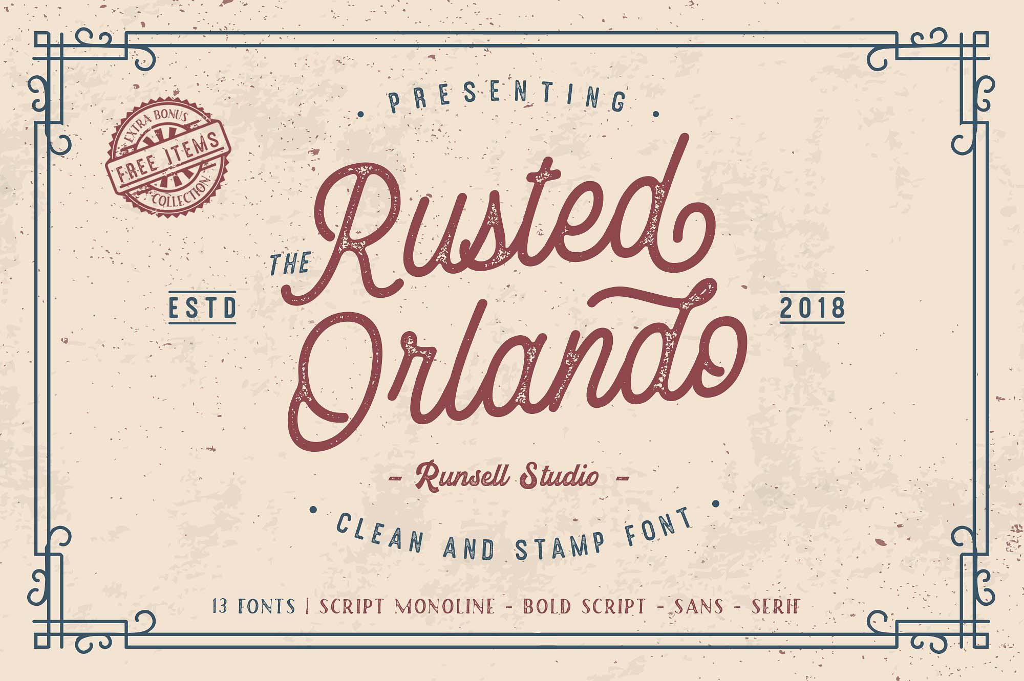Rusted Orlando Font