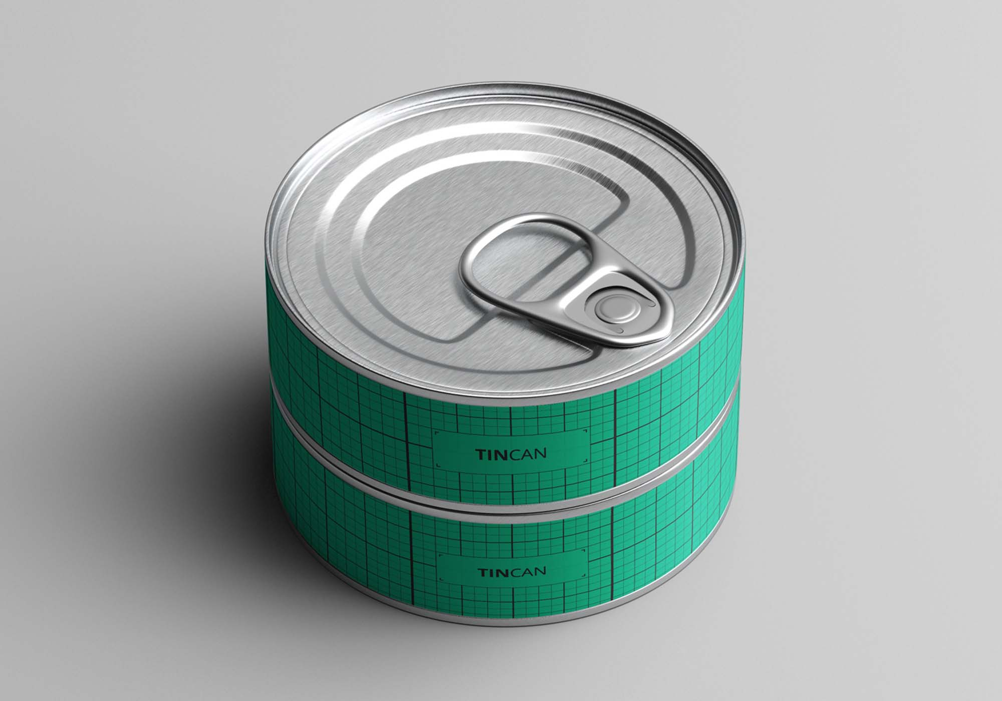 Short Tin Can Mockup
