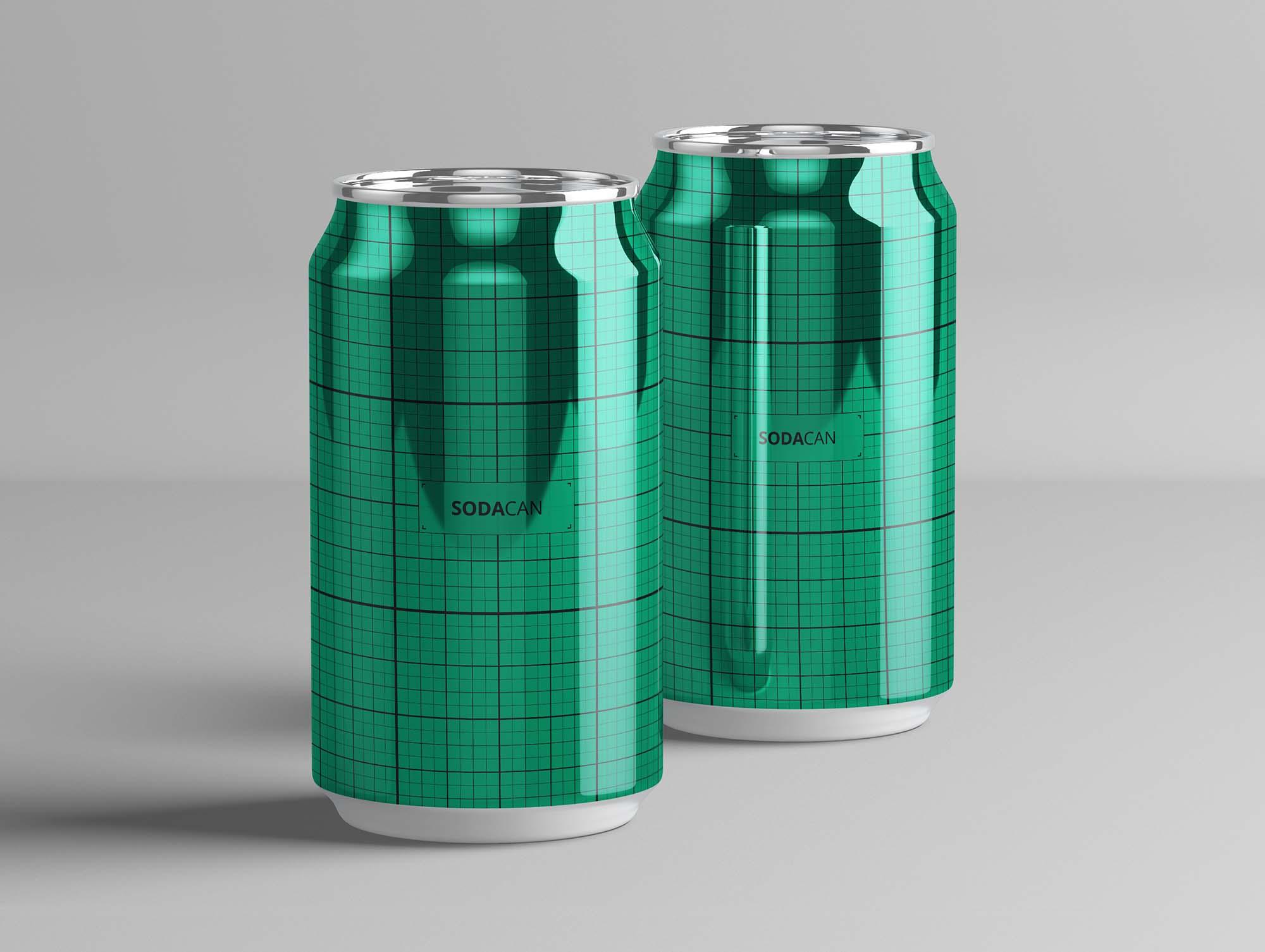Soda Can Mockup