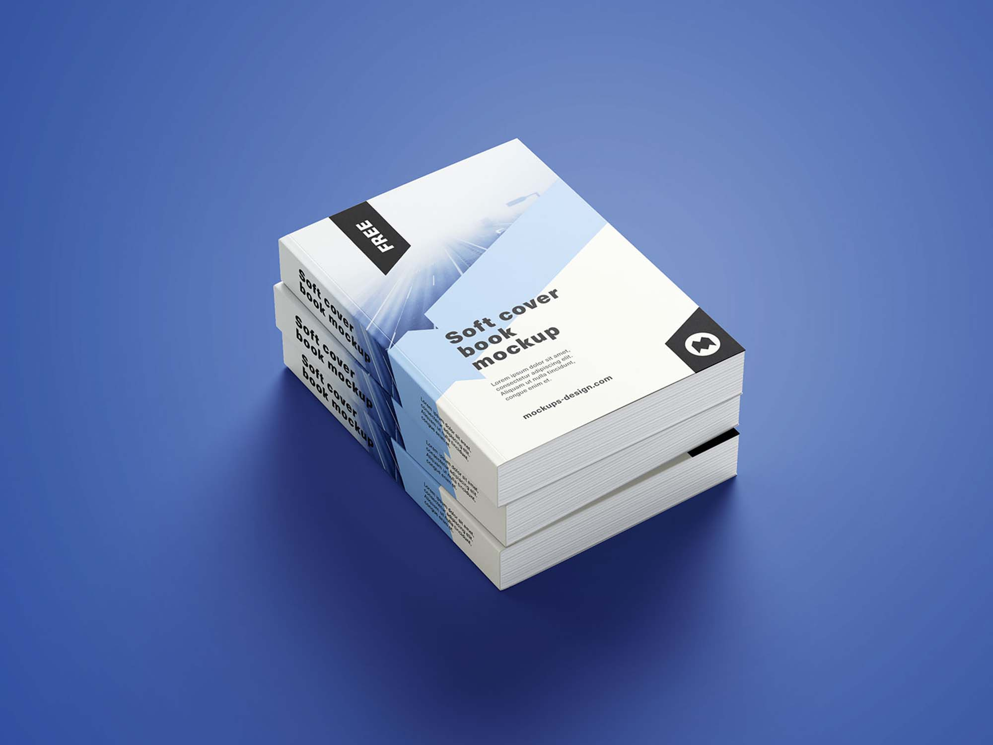 Free Softcover Book Mockup Psd