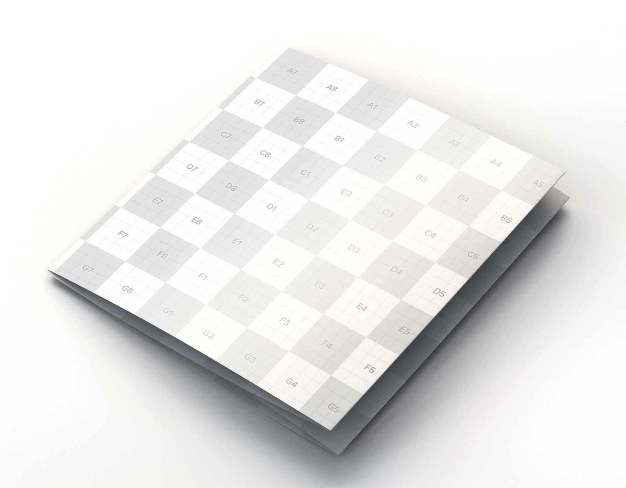 Square 4 Fold Brochure Mockup