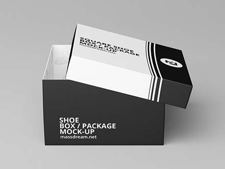 Square Shoe Box Mockup