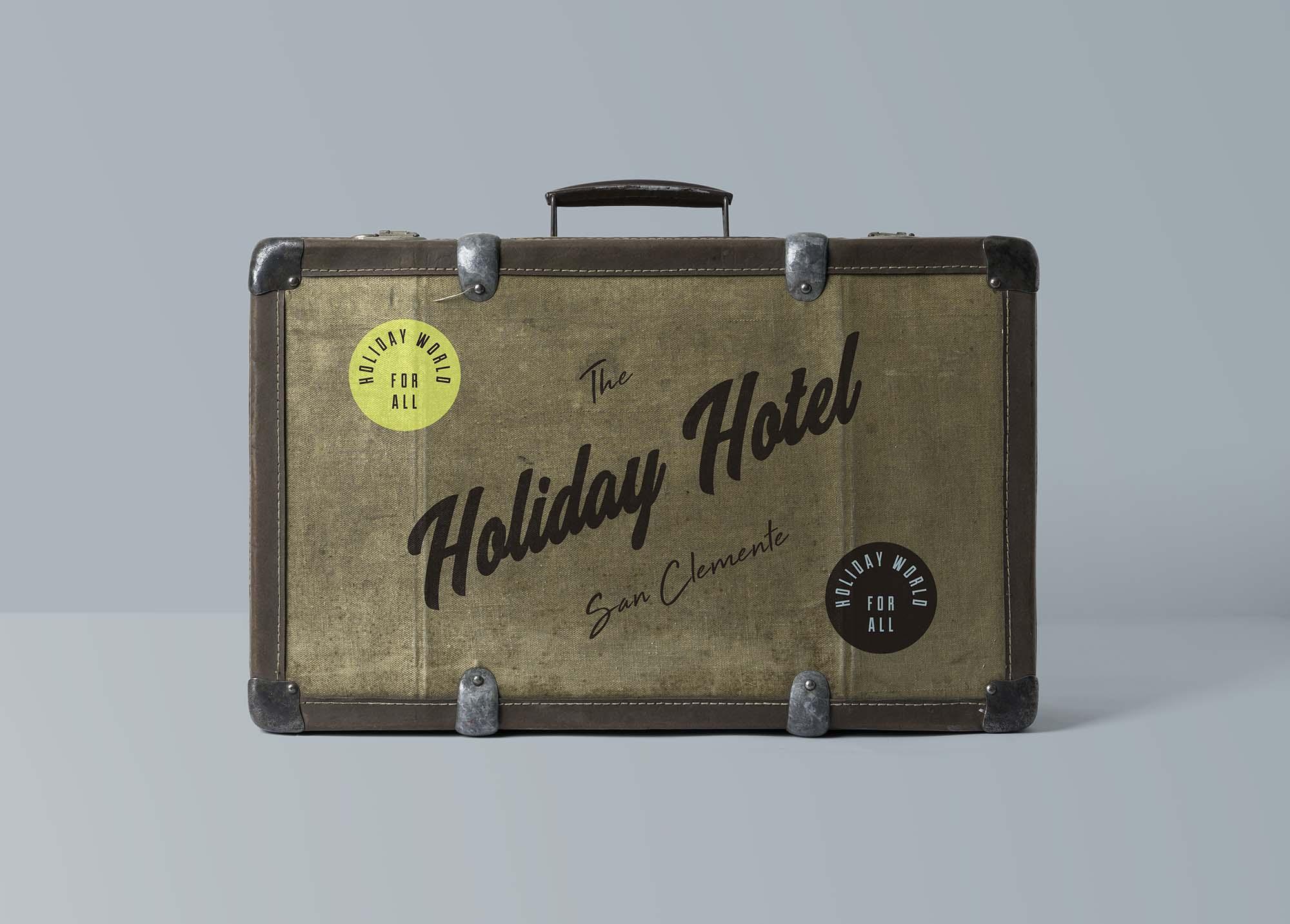 Suitcase Mockup