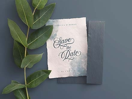 Wedding Invite Mockup