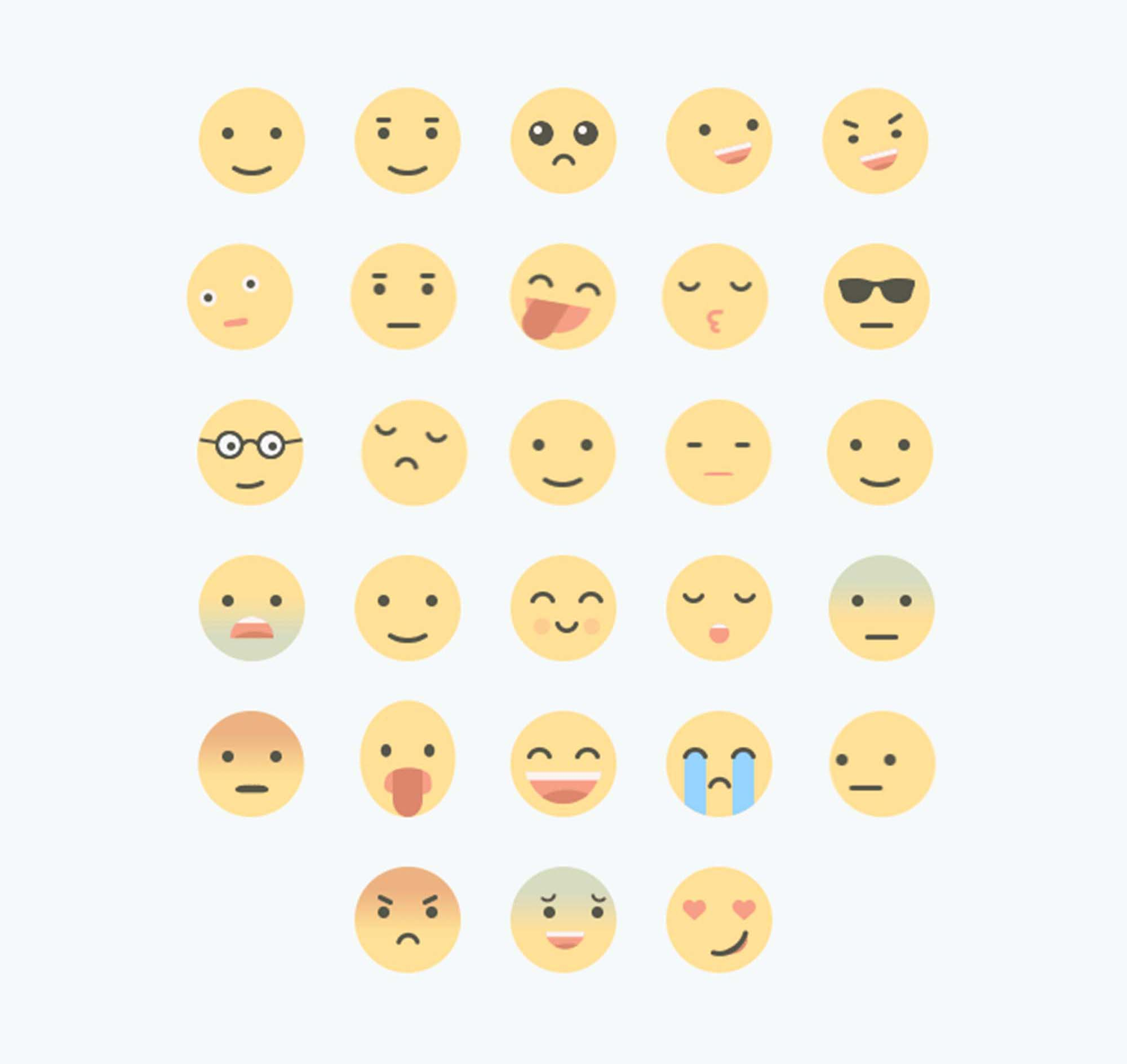 Animated Flat Emojis