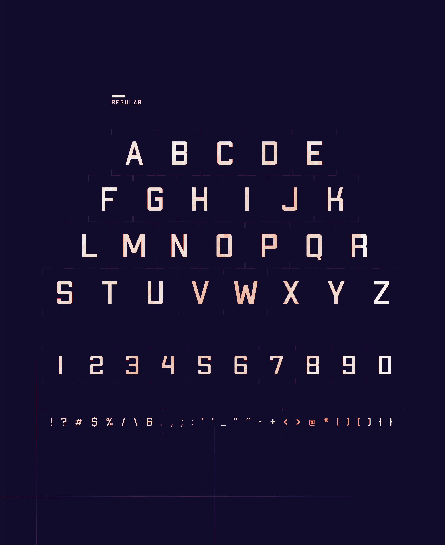 Apex MK2 Font Letters