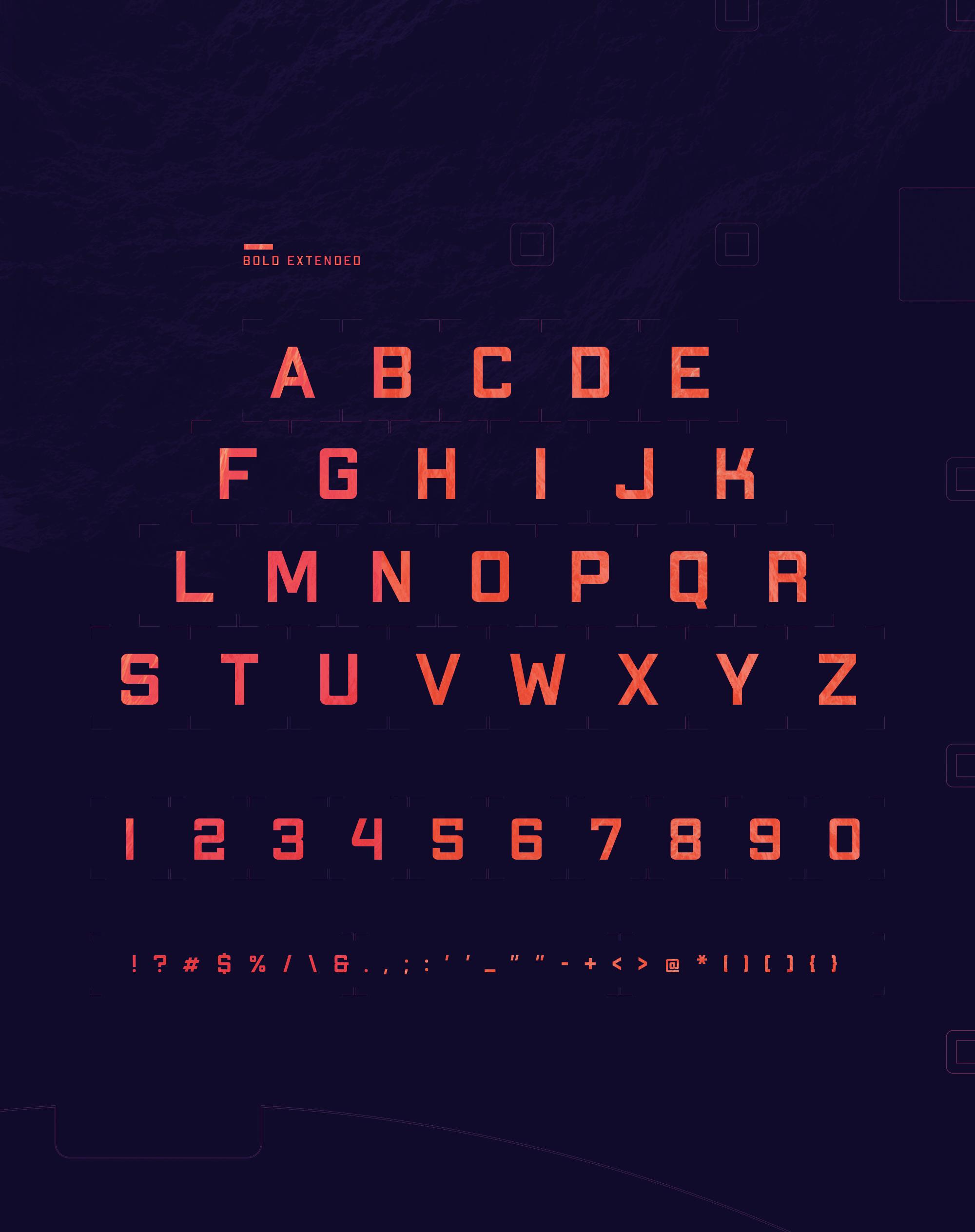 Apex MK2 Font Alphabets