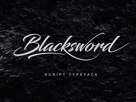 Blacksword Script Font