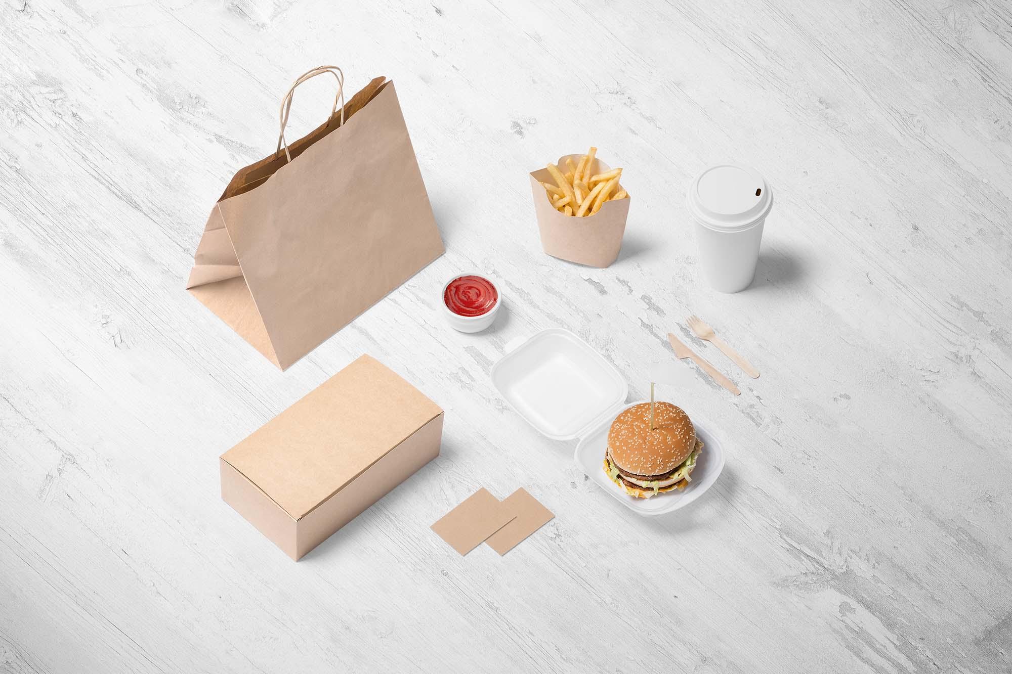 Burger Store Branding Mockup