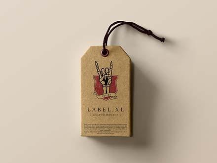 Cardboard Label Mockup